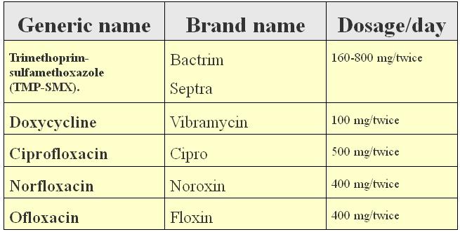 antibiotics used for acute bacterial prostatitis treatment