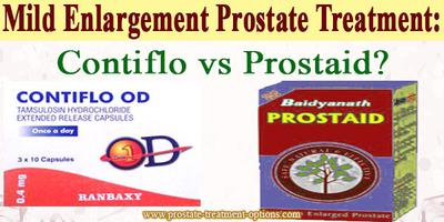 Mild Enlargement Prostate Treatment: Contiflo vs Prostaid?