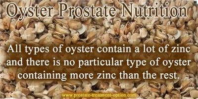 all types of oyster contain a lot of zinc