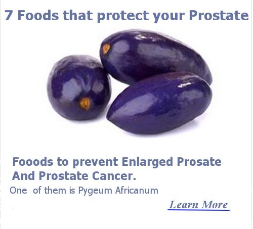 prostate foods pygeum africum
