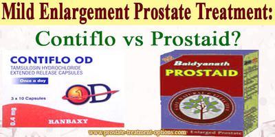 Mild Enlargement Prostate Treatment: Contiflo vs Prostaid?